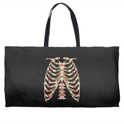 Halloween Skeleton Floral Weekender Totes Designed By Sengul