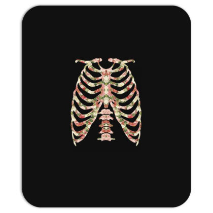 Halloween Skeleton Floral Mousepad Designed By Sengul