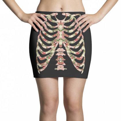 Halloween Skeleton Floral Mini Skirts Designed By Sengul