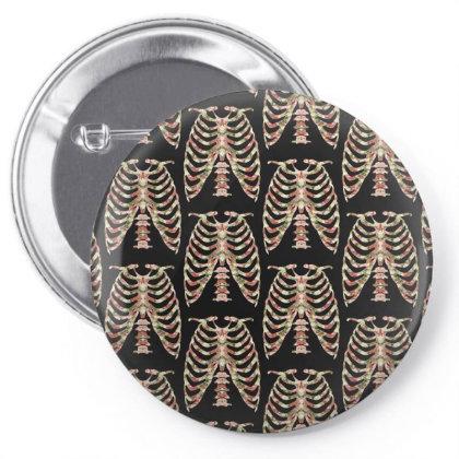 Halloween Skeleton Floral Pin-back Button Designed By Sengul