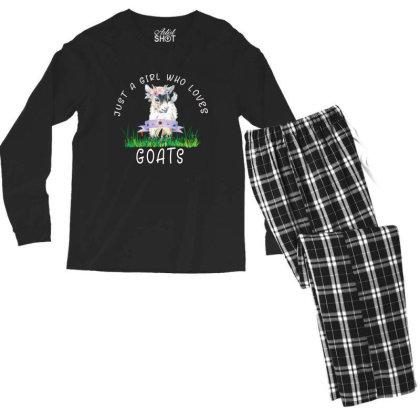 Just A Girl Who Loves Goat Men's Long Sleeve Pajama Set Designed By Alparslan Acar