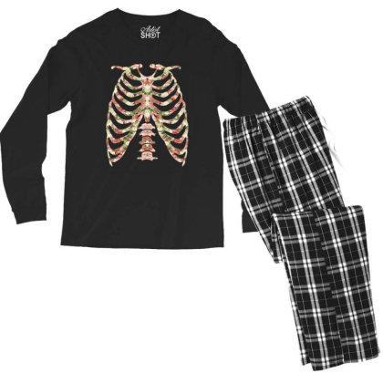 Halloween Skeleton Floral Men's Long Sleeve Pajama Set Designed By Sengul