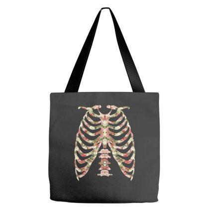 Halloween Skeleton Floral Tote Bags Designed By Sengul