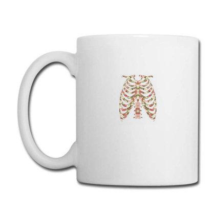 Halloween Skeleton Floral Coffee Mug Designed By Sengul