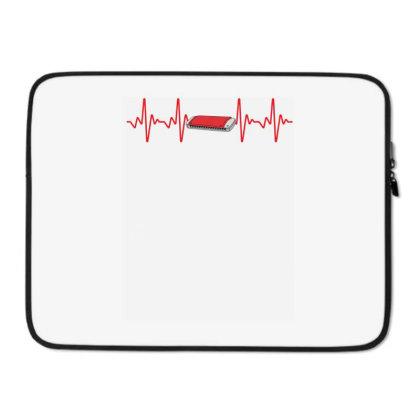 Harmonica Heartbeat Laptop Sleeve Designed By Sengul
