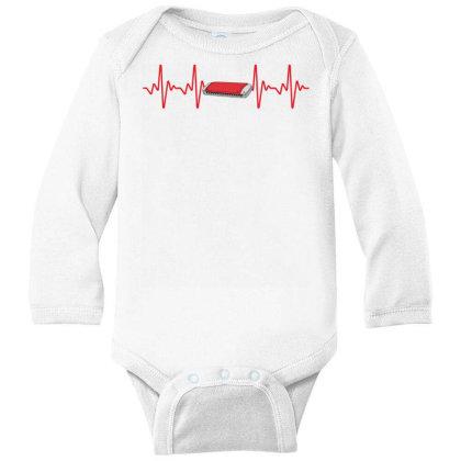 Harmonica Heartbeat Long Sleeve Baby Bodysuit Designed By Sengul