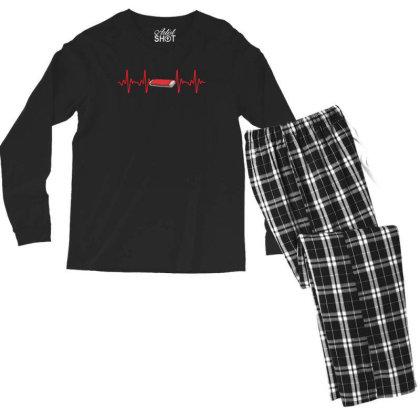 Harmonica Heartbeat Men's Long Sleeve Pajama Set Designed By Sengul