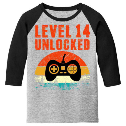 Level 14 Unlocked Youth 3/4 Sleeve Designed By Sengul