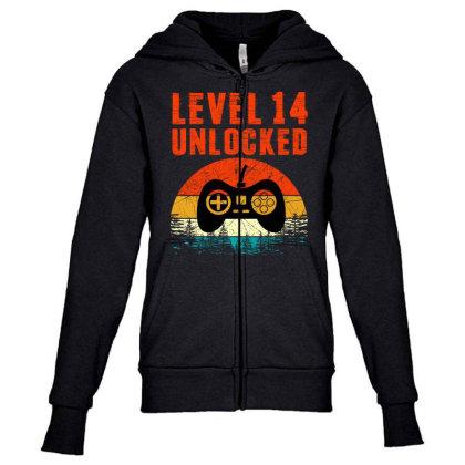 Level 14 Unlocked Youth Zipper Hoodie Designed By Sengul