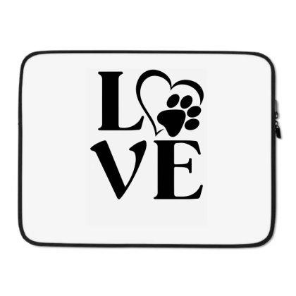 Love Paw For Light Laptop Sleeve Designed By Sengul