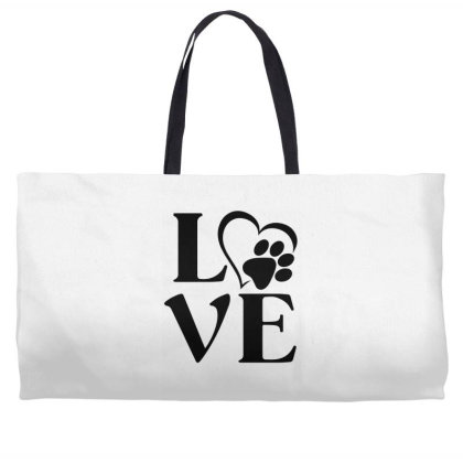 Love Paw For Light Weekender Totes Designed By Sengul