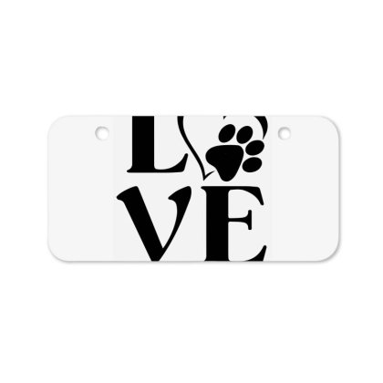 Love Paw For Light Bicycle License Plate Designed By Sengul