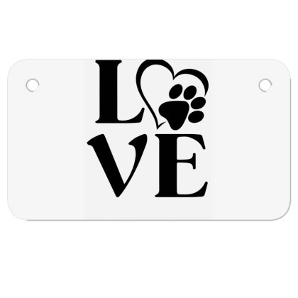 Love Paw For Light Motorcycle License Plate Designed By Sengul