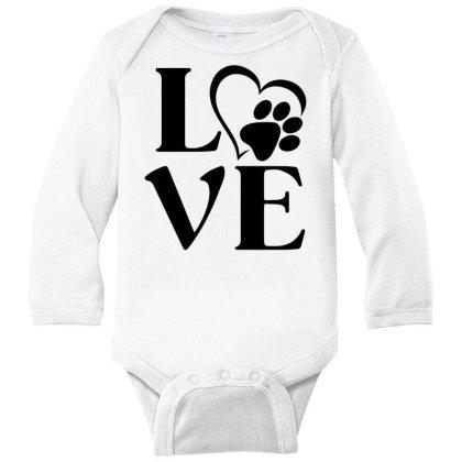 Love Paw For Light Long Sleeve Baby Bodysuit Designed By Sengul