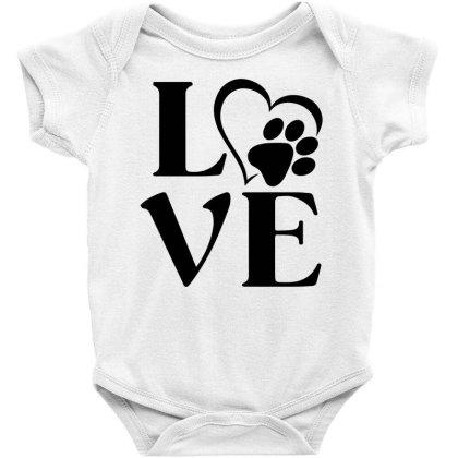Love Paw For Light Baby Bodysuit Designed By Sengul