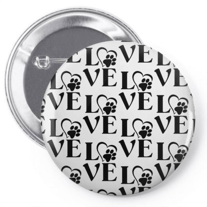 Love Paw For Light Pin-back Button Designed By Sengul