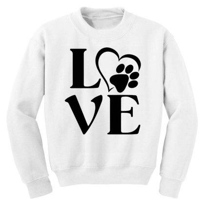 Love Paw For Light Youth Sweatshirt Designed By Sengul
