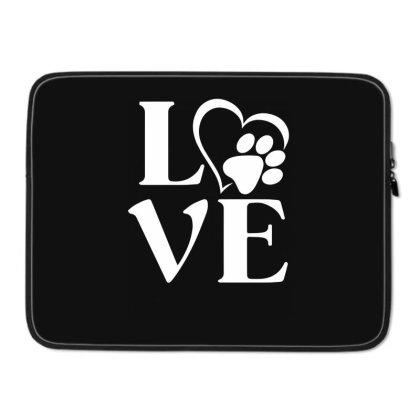 Love Paw For Dark Laptop Sleeve Designed By Sengul