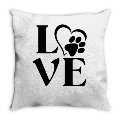 Love Paw For Light Throw Pillow Designed By Sengul