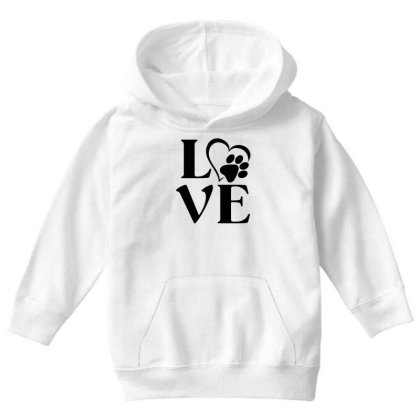 Love Paw For Light Youth Hoodie Designed By Sengul