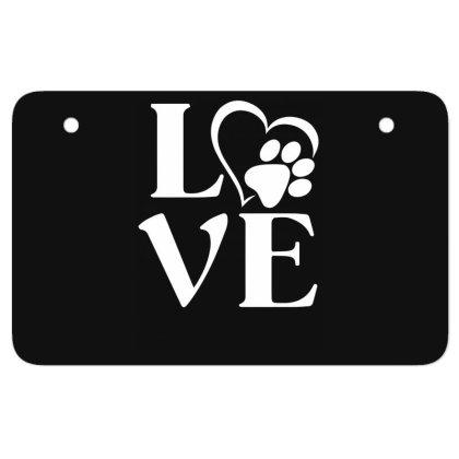Love Paw For Dark Atv License Plate Designed By Sengul