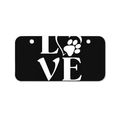 Love Paw For Dark Bicycle License Plate Designed By Sengul