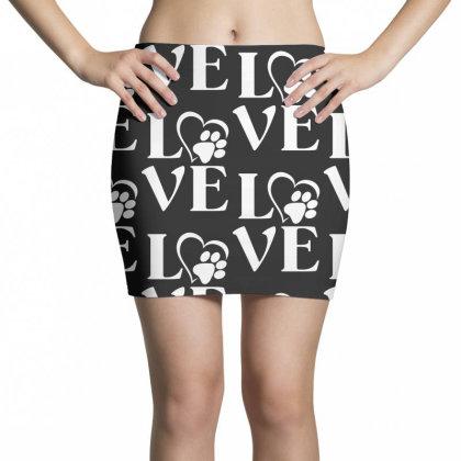 Love Paw For Dark Mini Skirts Designed By Sengul