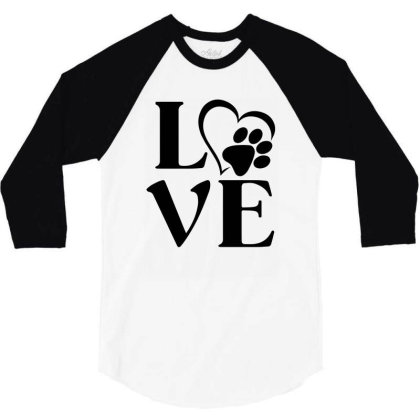 Love Paw For Light 3/4 Sleeve Shirt Designed By Sengul