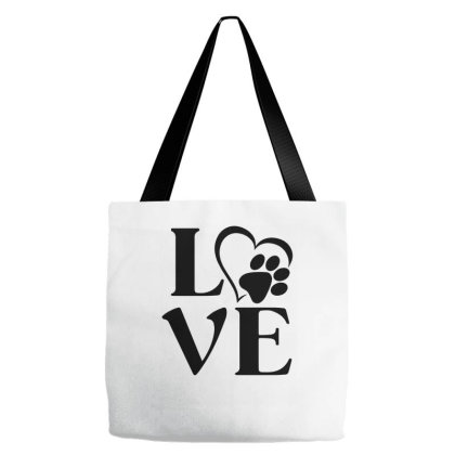 Love Paw For Light Tote Bags Designed By Sengul