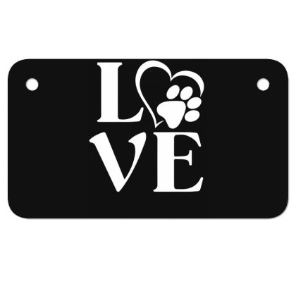 Love Paw For Dark Motorcycle License Plate Designed By Sengul