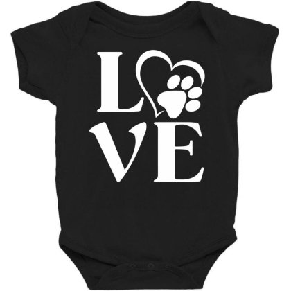 Love Paw For Dark Baby Bodysuit Designed By Sengul