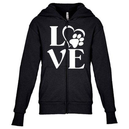 Love Paw For Dark Youth Zipper Hoodie Designed By Sengul