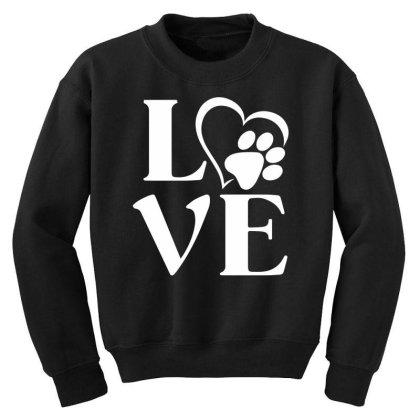 Love Paw For Dark Youth Sweatshirt Designed By Sengul