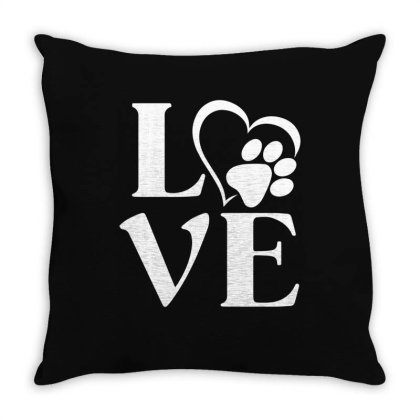 Love Paw For Dark Throw Pillow Designed By Sengul