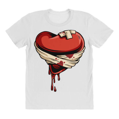 Halloween Heart All Over Women's T-shirt Designed By Chiks