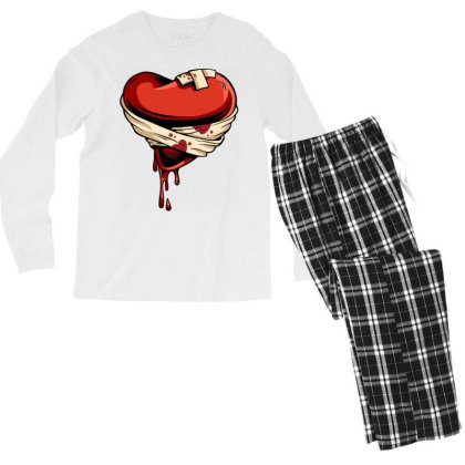 Halloween Heart Men's Long Sleeve Pajama Set Designed By Chiks