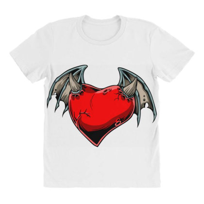 Batheart All Over Women's T-shirt Designed By Chiks