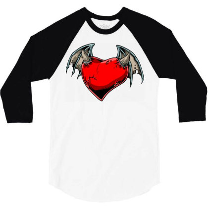 Batheart 3/4 Sleeve Shirt Designed By Chiks