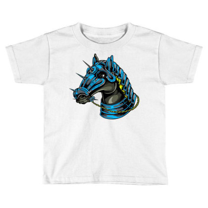 Horse Head Toddler T-shirt Designed By Chiks