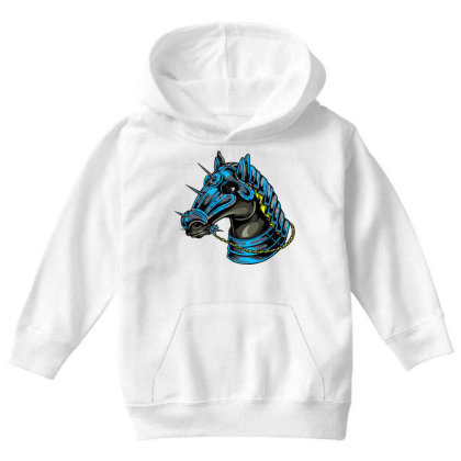 Horse Head Youth Hoodie Designed By Chiks