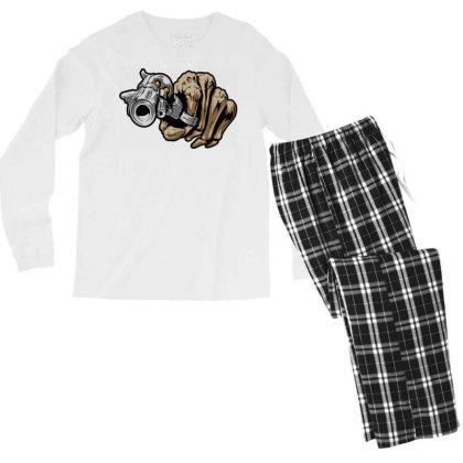 Gun Shot Men's Long Sleeve Pajama Set Designed By Chiks