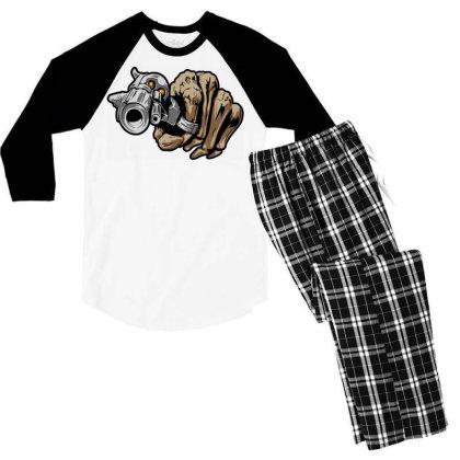 Gun Shot Men's 3/4 Sleeve Pajama Set Designed By Chiks