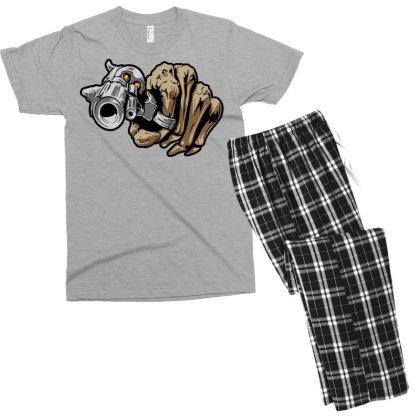 Gun Shot Men's T-shirt Pajama Set Designed By Chiks