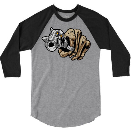 Gun Shot 3/4 Sleeve Shirt Designed By Chiks