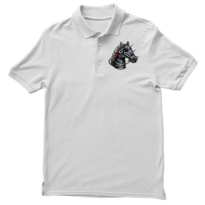 Horse Head Men's Polo Shirt Designed By Chiks