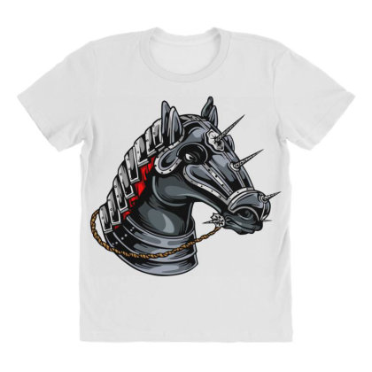 Horse Head All Over Women's T-shirt Designed By Chiks