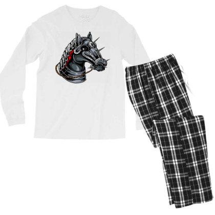 Horse Head Men's Long Sleeve Pajama Set Designed By Chiks