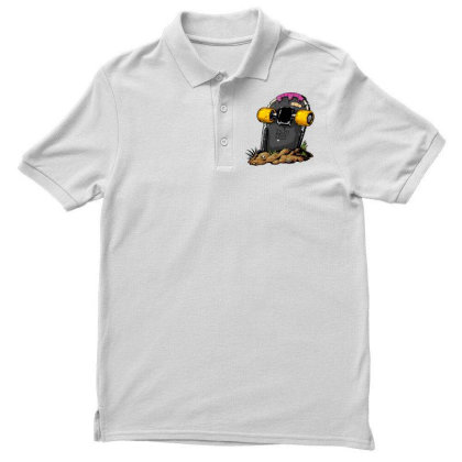 Skateboard Headstone Men's Polo Shirt Designed By Chiks