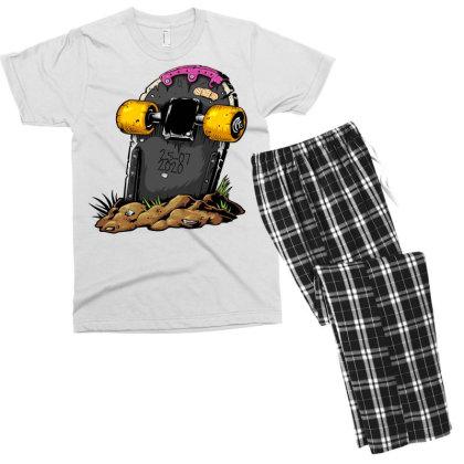 Skateboard Headstone Men's T-shirt Pajama Set Designed By Chiks