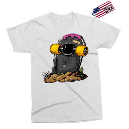 Skateboard Headstone Exclusive T-shirt Designed By Chiks